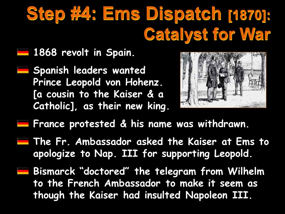 Step #4: Ems Dispatch [1870]: Catalyst for War